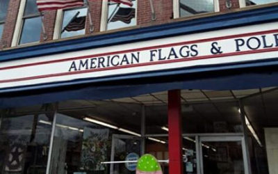 American Flags and Poles
